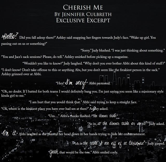 Cherish Me Exclusive Excerpt